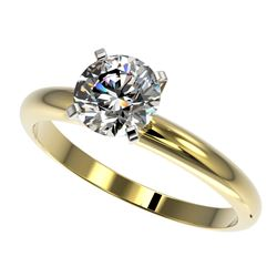 1.25 ctw Certified Quality Diamond Engagment Ring 10k Yellow Gold - REF-167K3Y