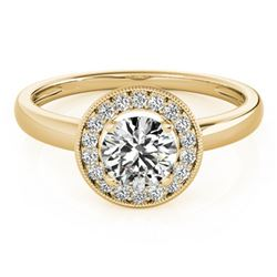 1.15 ctw Certified VS/SI Diamond Halo Ring 18k Yellow Gold - REF-271H5R