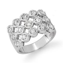 1.0 ctw Certified VS/SI Diamond Ring 14k White Gold - REF-99H3R