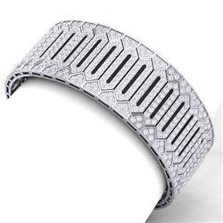 23 ctw Certified VS/SI Diamond 8 Inch Bracelet 18K White Gold - REF-1410F2M
