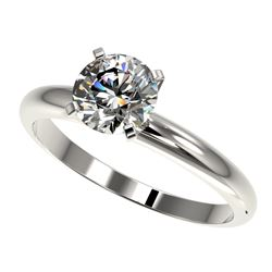 1.28 ctw Certified Quality Diamond Engagment Ring 10k White Gold - REF-167M3G