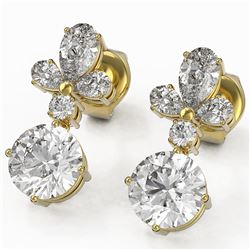 2.75 ctw Diamond Designer Earrings 18K Yellow Gold - REF-340F3M