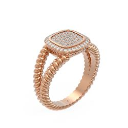 0.54 ctw Diamond Ring 18K Rose Gold - REF-117M3G