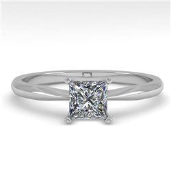 0.52 ctw Princess Cut VS/SI Diamond Engagment Ring 14k Rose Gold - REF-68M8G