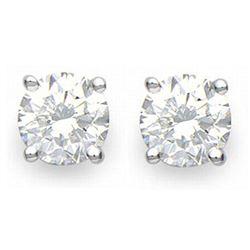 2.0 ctw Certified VS/SI Diamond Stud Earrings 14k White Gold - REF-460M2G