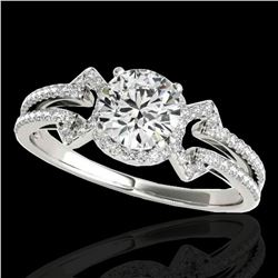 1.36 ctw Certified Diamond Solitaire Ring 10k White Gold - REF-204A5N