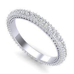 1.75 ctw VS/SI Diamond Art Deco Eternity Eternity Ring 18k White Gold - REF-149R3K