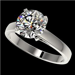 2.55 ctw Certified Quality Diamond Engagment Ring 10k White Gold - REF-616R8K