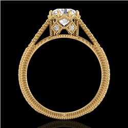 1.25 ctw VS/SI Diamond Art Deco Ring 18k Yellow Gold - REF-330Y2X