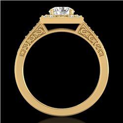 1.1 ctw VS/SI Diamond Art Deco Ring 18k Yellow Gold - REF-227M3G