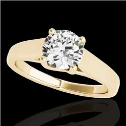 1.5 ctw Certified Diamond Solitaire Ring 10k Yellow Gold - REF-327F3M