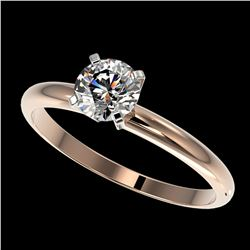 0.76 ctw Certified Quality Diamond Engagment Ring 10k Rose Gold - REF-68N2F