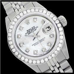Rolex Ladies Stainless Steel, Diamond Dial & Diamond Bezel, Sapphire Crystal