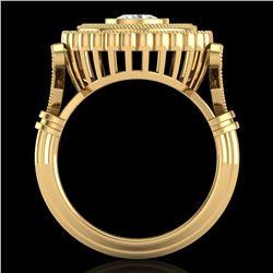 2.03 ctw VS/SI Diamond Solitaire Art Deco Ring 18k Yellow Gold - REF-270H2R