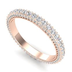 1.75 ctw VS/SI Diamond Art Deco Eternity Eternity Ring 18k Rose Gold - REF-149Y3X