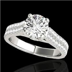 1.61 ctw Certified Diamond Pave Ring 10k White Gold - REF-204A5N