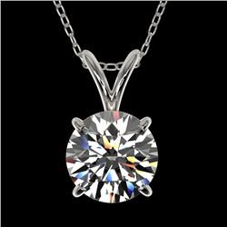 1.26 ctw Certified Quality Diamond Necklace 10k White Gold - REF-188A2N