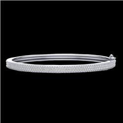 1.50 ctw Micro Pave VS/SI Diamond Bangel Bracelet 14k White Gold - REF-176Y2X