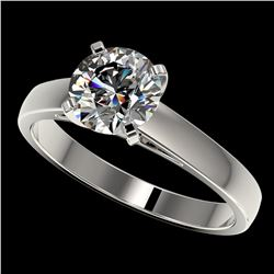 1.50 ctw Certified Quality Diamond Engagment Ring 10k White Gold - REF-236W3H