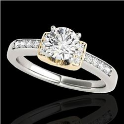 1.11 ctw Certified Diamond Solitaire Ring 10k 2Tone Gold - REF-190H9R