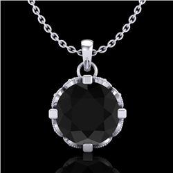 1.5 ctw Fancy Black Diamond Art Deco Stud Necklace 18k White Gold - REF-101R8K