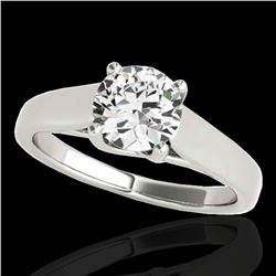1.5 ctw Certified Diamond Solitaire Ring 10k White Gold - REF-327Y3X