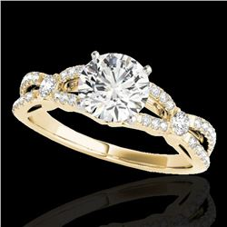 1.35 ctw Certified Diamond Solitaire Ring 10k Yellow Gold - REF-190F9M