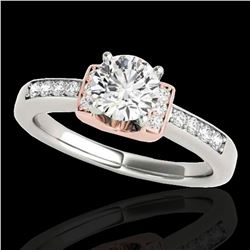 1.11 ctw Certified Diamond Solitaire Ring 10k 2Tone Gold - REF-190G9W