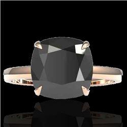 6 ctw Black Diamond Designer Engagment RNG 14k Rose Gold - REF-143W6H