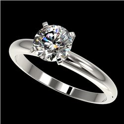 1.25 ctw Certified Quality Diamond Engagment Ring 10k White Gold - REF-167M3G