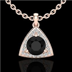 1.75 ctw Micro Pave VS/SI Diamond Certified Necklace 14k Rose Gold - REF-76W4H