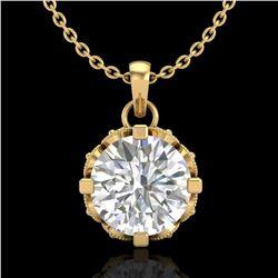 1.14 ctw VS/SI Diamond Art Deco Stud Necklace 18k Yellow Gold - REF-205W5H