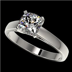 1.25 ctw Certified VS/SI Quality Cushion Cut Diamond Ring 10k White Gold - REF-304R6K