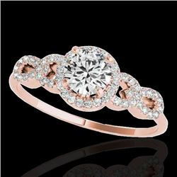 1.33 ctw Certified Diamond Solitaire Ring 10k Rose Gold - REF-190Y9X