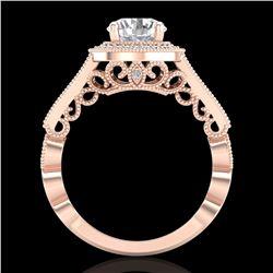 1.91 ctw VS/SI Diamond Solitaire Art Deco Ring 18k Rose Gold - REF-543R6K