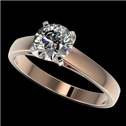 1.29 ctw Certified Quality Diamond Engagment Ring 10k Rose Gold - REF-177X8A