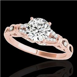 1.2 ctw Certified Diamond Solitaire Ring 10k Rose Gold - REF-188M2G