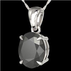 5 ctw Black Diamond Certified Designer Necklace 18k White Gold - REF-161A8N