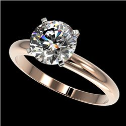 2.03 ctw Certified Quality Diamond Engagment Ring 10k Rose Gold - REF-407H8R