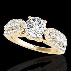 1.7 ctw Certified Diamond Solitaire Ring 10k Yellow Gold - REF-215K5Y