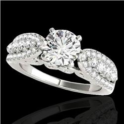 1.7 ctw Certified Diamond Solitaire Ring 10k White Gold - REF-215G5W