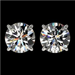 2.50 ctw Certified Quality Diamond Stud Earrings 10k White Gold - REF-303A2N