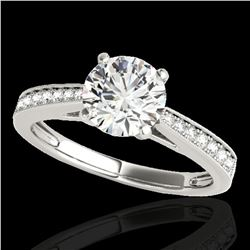 1.25 ctw Certified Diamond Solitaire Ring 10k White Gold - REF-188G2W