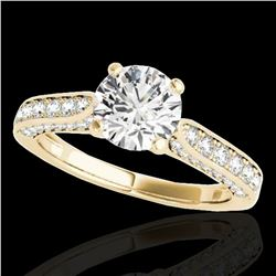 1.6 ctw Certified Diamond Solitaire Ring 10k Yellow Gold - REF-197K8Y