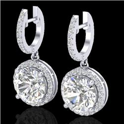 4.50 ctw Micro Pave VS/SI Diamond Certified Designer 18k White Gold - REF-1681A4N