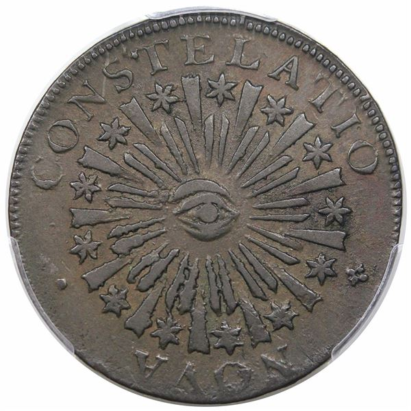 1785 Nova Constellatio Copper, Blunt Rays, Crosby 1-B, R4, PCGS XF45
