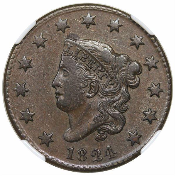 1824  N-3  R2  NGC XF45.  EAC VF30