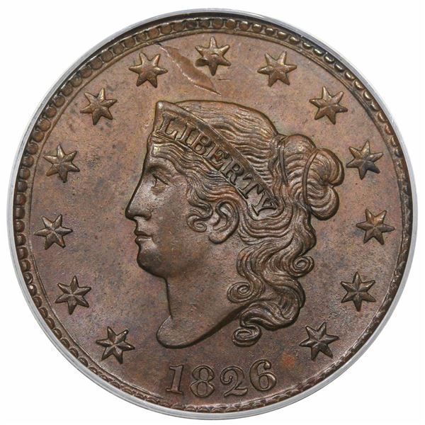1826  N-6  R2  PCGS MS64BN CAC.  EAC MS60