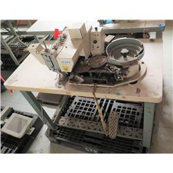 Juki MB-373N Automatic Feed Button Sewing Machine w/ BR10 Robot (the bowl shakes a little)