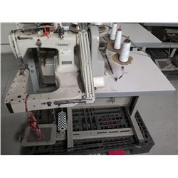 Brother DT6-B926-GA Three-Needle Double Chain Stitch Machine w/ Feed Off The Arm
